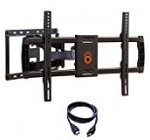 ECHOGEAR Full Motion Articulating TV Wall Mount Bracket for most 37-70 inch LED, LCD, OLED and Plasma Flat Screen TVs w/ VESA patterns up to 600 x 400 – 16″ Extension – EGLF1-BK