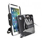 CTA Digital Anti-Theft Case with Built-In Grip Stand, iPad (2017)/iPad (2-4)/iPad Air (1-2)/iPad Pro 9.7 (PAD-ACG)