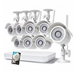 Zmodo 1080p 8CH HDMI NVR 1TB HDD – 8 HD WiFi Wireless Weatherproof Security Cameras System with Night Vision – Hassle Free Installation No Video Cable Needed