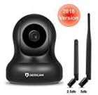 1080P Home Wireless Security Camera, Pan/Tilt Control, 4x Digital Zoom, Night Vision and Two-Way Talk, Baby Pet Front Porch Monitor, 2018 updated Alternative Antenna version by Dericam