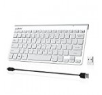 Wireless Keyboard , SzHahn 2.4G Slim Rechargeable Wireless Keyboard for Computer, Desktop, PC, Laptop, Surface,Smart TV -Sliver