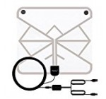 Wsky 60+ Miles 1080P Transparent Digital HDTV Antenna – Best Hdtv Antenna Indoor – Upgraded Silver Paddle Extremely High Reception – Super FUN and FREE for LIFE!