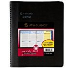 AT-A-GLANCE QuickNotes Recycled Weekly/Monthly Appointment Book, 8 x 10 Inches, Black, 2013 (76-01-05)