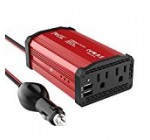 Foval Power Inverter 300W DC 12V to 110V AC Converter with 4.8A Dual USB Car Charger
