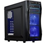 ROSEWILL ATX Mid Tower Gaming Computer Case, Gaming Case with Blue LED for Desktop / PC and 3 Case Fans Pre-Installed, Front I/O Access Ports  (CHALLENGER S)