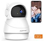 APEMAN Wireless IP Camera 1080P Wi-Fi Home Security Surveillance Camera Motion Detection Remote Control with Night Vision Pan/Tilt 2-Way Audio