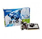 MSI N210-MD1G/D3 GeForce 210 Graphic Card – 589 MHz Core – 1 GB GDDR3 SDRAM – PCI Express 2.0 x16 – Half-height – 1000 MHz Memory Clock – 2560 x 1600 – DirectX 10.1, – HDMI – DVI – VGA LOW PROFILE