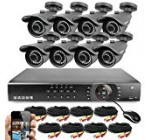 Best Vision 16CH 4-in-1 HD DVR Security Camera System (1TB HDD), 8pcs 1080P High Definition Outdoor Cameras with Night Vision – DIY Kit, App for Smartphone Remote Monitoring