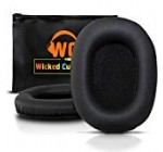 Upgraded Sony MDR 7506 Replacement Ear Pads by Wicked Cushions – Also Compatible with MDR V6 / MDR V7 / MDR CD900ST – Black