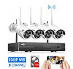 [8CH Expandable] Wireless Security Camera System Outdoor,HisEEu 8 Channel 1080P NVR 4Pcs 960P 1.3MP Night Vision IP Security Surveillance Cameras Home, Plug&Play,Easy Remote View,1TB HDD Pre-Install