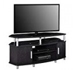 Ameriwood Home Carson Corner TV Stand for TVs up to 50″, Black