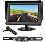 Emmako Backup Camera and 4.3″ Monitor System For Car/SUV/RV/Pickup/Truck/Trailer IP68 Waterproof Night Vision Rear View Camera Single Power Reversing/Driving Use With Guide Lines
