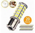 twenty Pcs Very Super Bright 1156 1141 1003 BA15S sixty eight-SMD LED Substitute Gentle Bulbs for RV Indoor Lights(20-Pack, Pure White (6000K-6500K Coloration Temputure))