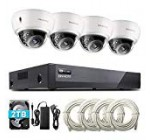 ONWOTE 8CH 5MP PoE Security Digicam Program with Audio, Vandal-Evidence Dome, four Outside 5MP 2592x1944P 100ft IR PoE IP Security Cameras, 8 Channel 5MP H.265 NVR 2TB HDD, Insert 4 More Cameras, Onvif