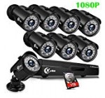 XVIM 8CH 1080P Protection Camera System Outside with 1TB Challenging Travel Pre-Put in CCTV Recorder 8pcs High definition 1920TVL Improve Outside House Surveillance Cameras with Night Vision Easy Distant Access Motion Warn