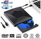 Exterior CD DVD Push, USB 3. Variety-C Dual Port Superdrive Portable DVD CD RW Generate Burner Author Optical DVD Generate Plug and Engage in High Pace Data Transfer for Macbook/MacOS/Windows 10/eight/seven Linux Notebook