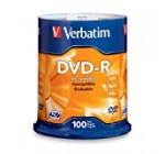 Verbatim DVD-R four.7GB 16x AZO Recordable Media Disc – a hundred Disc Spindle (FFP)