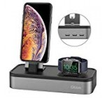 Charging Stand for Apple Look at Sequence 4, Oittm [five in 1 New Model] five-port USB Rechargeable Stand for iWatch Series 4/three/2/one, Iphone Xs, Xs Max, Xr, X, 8, 8 Additionally, seven,6,iPad Mini,Apple Penci (Room Grey)