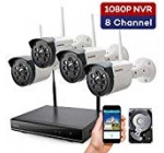 【Expandable 8CH】 ONWOTE Wi-fi Protection Digital camera System with 1TB Tough Generate, 8 Channel 1080P NVR, 4 Outdoor 960P 80ft Night Vision WiFi Surveillance Cameras, IP66 Weatherproof, Insert 4 Far more Cameras