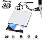 External Blu Ray DVD Generate 3D 4K, Bluray USB three. Player CD RW Row Burner Portable Suitable for iMac Laptop computer Personal computer MacBook OS Windows 7 8 ten (Silver-Gray)