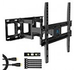 Tv set Wall Mount Bracket Entire Motion Dual Swivel Articulating Arms Extension Tilt Rotation, Suits Most 26-55 Inch LED, Liquid crystal display, OLED Flat&Curved TVs, Max VESA 400x400mm and Retains up to 99lbs by Pipishell