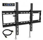 """Everstone Tilt Tv set Wall Mount Bracket for Most 32-eighty Inch LED,Liquid crystal display,OLED,Plasma Flat Display,Curved TVs,Low Profile,Up To VESA 600 x four hundred and one hundred sixty five LBS,Involves HDMI Cable and Stage,Suits sixteen"""",18″,24″Studs"""