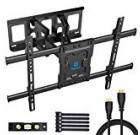 Total Motion Tv Wall Mount Bracket Twin Articulating Arms Swivels Tilts Rotation for Most 37-70 Inch LED, Liquid crystal display, OLED Flat&Curved TVs, Retains up to 132lbs, Max VESA 600x400mm by Pipishell