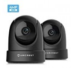 two-Pack Amcrest 4MP UltraHD Indoor WiFi Digital camera, Stability IP Digicam with Pan/Tilt, Two-Way Audio, Remote Viewing, Dual-Band 5ghz/two.4ghz, 4-Megapixel @~20FPS, Extensive 120° FOV, 2PACK-IP4M-1051B (Black)