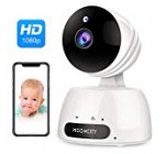 WiFi Residence Safety Camera with Pan Tilt Zoom, 1080P Wireless IP Indoor Camera with two Way Audio,Motion Detection,Night Vision for Pet Infant Monitor (White)