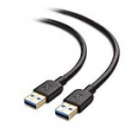 Cable Matters USB 3. Cable (USB to USB Cable Male to Male) in Black 10 Feet