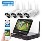 [8CH,Expandable] All in 1 with 10.1″ Keep an eye on Wi-fi Protection Camera System, Cromorc House Business CCTV Surveillance 8CH 1080P NVR Kit, 4pcs 2MP 1080P Outdoor Night Vision IP Digicam, 1TB Tough Generate