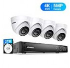 ANNKE 5MP POE Safety Digicam Method, 8CH Upgraded H.265+ 4K NVR, Color Night time Vision, 4pcs IP67 5MP PoE IP Cam 2TB HDD, Utilized Indoors and Outdoor, Shop More Video for Property Business Surveillance