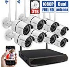 Wi-fi Protection Digital camera Program,1080P Outdoor Home WiFi Security Surveillance Camera Program, 8Pcs 2. Megapixel 1080P Wi-fi IP Digital camera with 3TB Challenging Travel, Night time Eyesight, Remote View