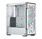 Corsair iCUE 220T RGB Airflow Tempered Glass Mid-Tower Intelligent Case, White – CC-9011174-WW