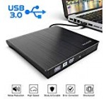 [Up to date Version] External CD DVD Generate USB 3., Ultra Trim CD DVD Rewriter Burner Author,Large Velocity Knowledge Transfer Optical Drives Player Appropriate for Personal computer Desktop/Laptop computer/Home windows