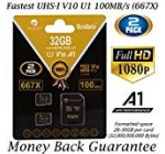two Pack 32GB Micro SD SDHC Memory Card In addition Adapter (Course 10 U1 UHS-I V10 A1 Pro MicroSD HC) Amplim 2X 32 GB Extremely Higher Pace 667X 100MB/s UHS-1. Mobile Cellphone, Tablet, Digital camera TF MicroSDHC Flash