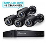 HeimVision HM245 8CH 1080P Stability Digicam Method, 5MP-Lite Hd-TVI DVR 4Pcs 1920TVL Out of doors/Indoor Weatherproof CCTV Surveillance Digicam with Night Vision, Motion Warn, Confront Detection, Distant Obtain