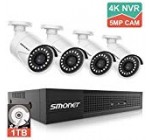 SMONET 5MP Security Digicam Programs,8-Channel House Online video Surveillance System(1TB Challenging Travel),4pcs 5MP(2560TVL) POE IP Cameras,Power More than Ethernet,24/seven Recording for NVR Kits,Indoor&Out of doors CCTV Camera