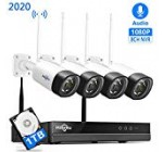 【8Channel,Audio】 Hiseeu Wireless Safety Digital camera Method,4Pcs 1080P Cameras 8Channel NVR,Cellular&Personal computer Remote,Outside IP66 Water-resistant,Night time Eyesight,Movement Inform,Plug&Enjoy, 24/7/Motion Record,1TB HDD