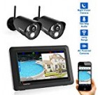 """CasaCam VS802 Wireless Safety Digicam Program with seven"""" Touchscreen and Hd Nightvision Cameras, AC Driven (two-cam package)"""